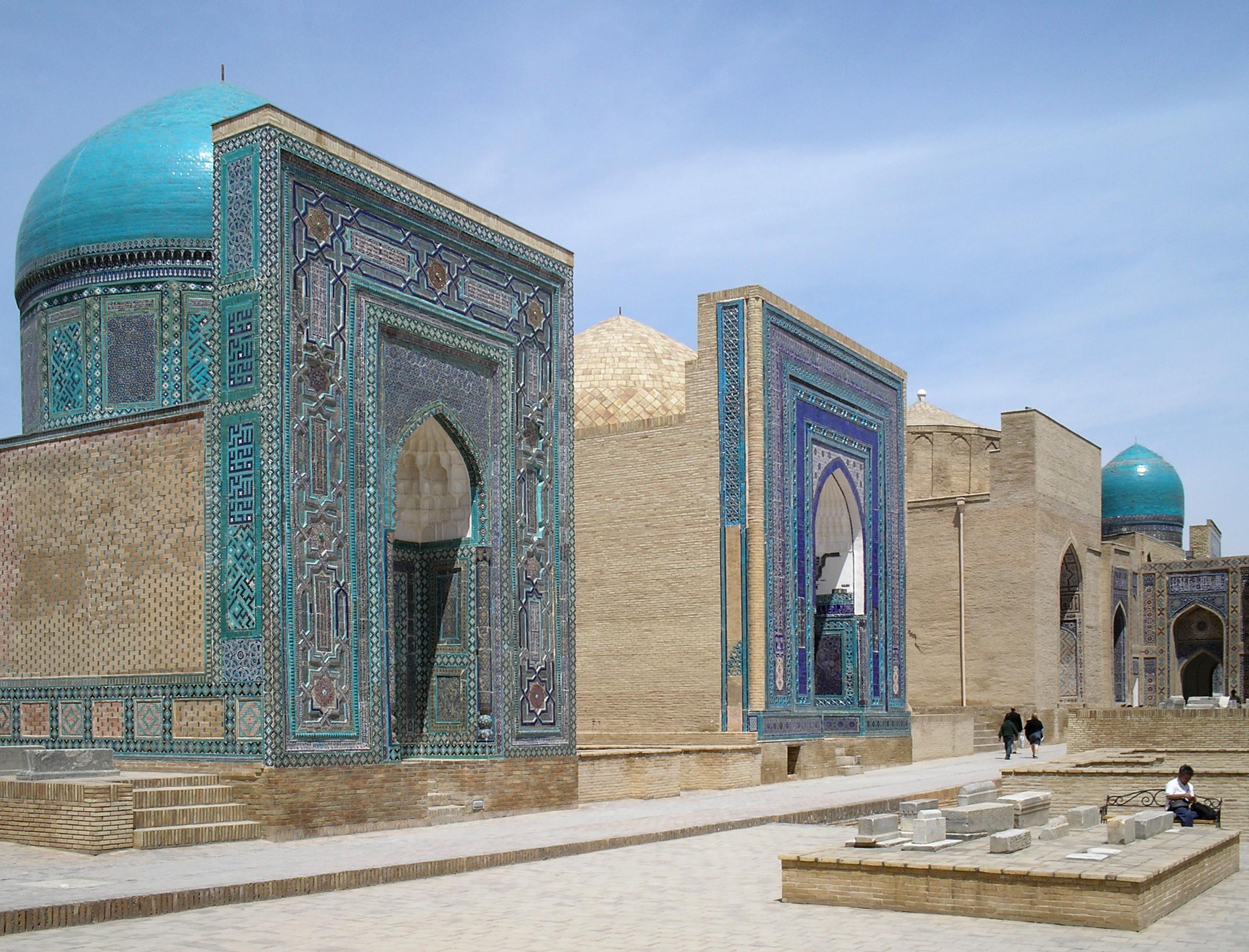 Samarkand Uzbekistan  city photo : 423886534 Samarkand, Uzbekistan, Shakhi Zinda Necropolis