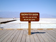 423916652 Death Valley, Badwater Basin sign